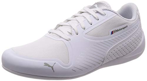 Puma Unisex Adults' BMW MMS Drift Cat 7 Ultra Low-Top Sneakers, White Silver, 11 UK ()
