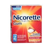 Cinnamon Surge Gum - Nicorette Gum 2mg Cinnamon Surge - 100 ct, Pack of 4