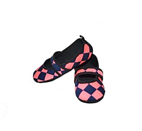 with Nufoot Black donna Betsy Shoes pink Lou Pantofola motivo Neoprene in 7f7pwq