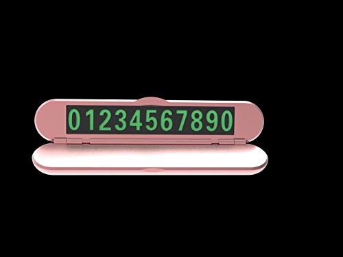 - Ornaments Car Styling Black and Pink Magnetic Temporary Parking Card Telephone Number Plate Car Sticker with Phone Number Sheet Clamshell