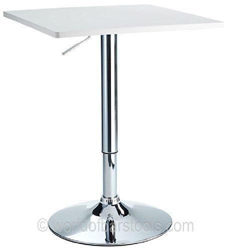 London Adjustable Bar Table White