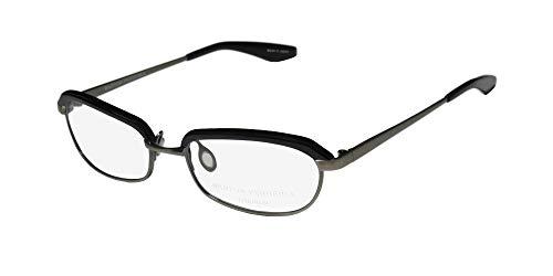 Barton Perreira Myra Womens/Ladies Cat Eye Full-rim Titanium Classy In Style Eyeglasses/Glasses (51-17-135, Black/Pewter) (Cat Eye Style Brillen)