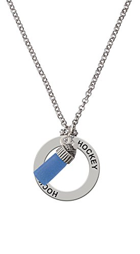 3-D Blue Baby Bottle - Hockey Affirmation Necklace