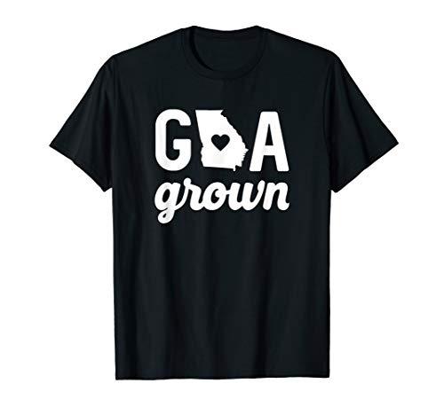 Georgia Grown T-shirt GA Home State Shirt Heart Script Gift