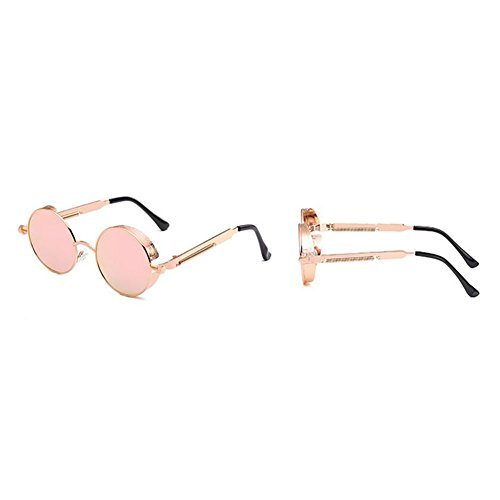 2018 Gafas Marco Sol Vintage Nuevas Gafas De Pin Hombres Gafas Gafas De Redondo Punk Pesca Y Protección Deportivas Clásicas Para Metal Antideslumbrante Conducción De UV Unisex Pink De Sol Mujeres Sol awYarz