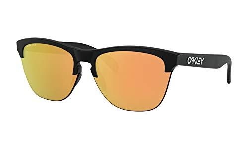 Oakley Frogskins Lite Sunglasses Matte Black with Prizm Rose Gold - Gold Lite Lens