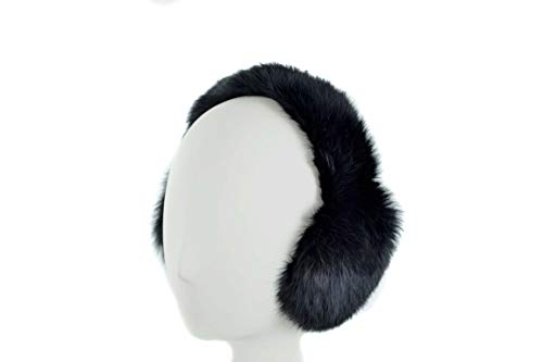 - Surell Genuine Black Rabbit Fur Earmuffs with Soft All Fur Non Adjustable Band, Winter Fashion Ear Warmers, Perfect Elegant Women's Luxury Gift