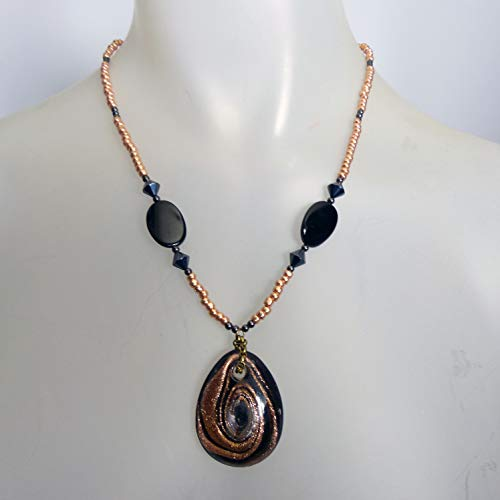 Bronze, Black and Gold Swirl Medallion