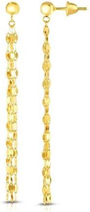 Ioka 14K Yellow Gold Multi Color Cube Stud Earrings