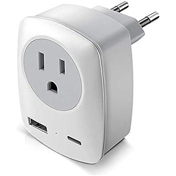 Amazon.com: European Plug Adapter, VINTAR International ...