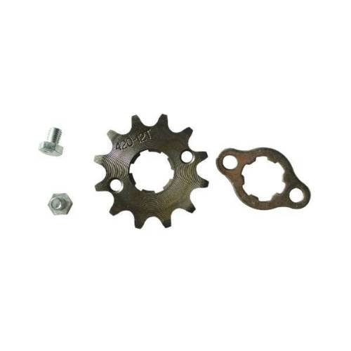 New 420 12T 20mm Drive Front Counter Sprocket ATV Pit Bike Lifan YX Loncin 125 140