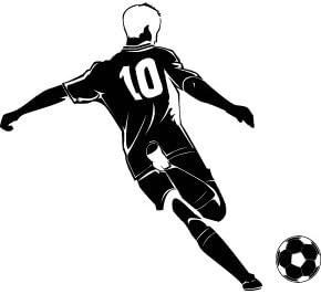 El futbolista patear un balon de futbol - 60cm Altura - 24cm Ancho ...