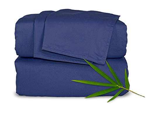 Pure Bamboo Sheets - Queen Size Bed Sheets 4-pc Set - 100% Organic Bamboo - Incredibly Soft - Fits Up to 16