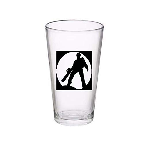 Ash Evil Dead Chainsaw Horror Pint Wine Glass Tumbler Alcohol Drink Cup Barware Halloween Scary (Wine Glass) (Pint) -