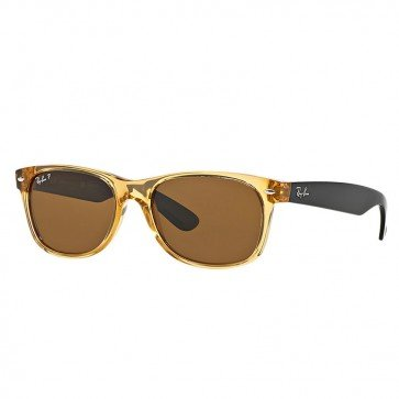 New Ray Ban Wayfarer RB2132 945/57 Honey/ Brown Classic 55mm Polarized - Polarized Ban Ray Honey Wayfarer