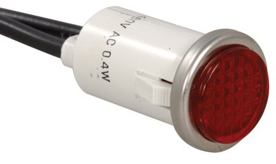 "Sorenson Lighted Controls 2954-X-11-373-10 Panel Mount Neon Indicator, Mounting Hole Size 0.50"", Red (Pack of 10)"