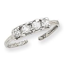 JC Jewelry & Gifts 14k Gold Diamond Toe Ring (14K White Gold) ()