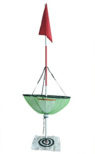 Height Adjustable Golf Chipping Net with Golf Flagstick Chipper for Backyard Outdoor Pitching and Chipping Portable Practice with Target and Red Flag (Folding Stock For M4)