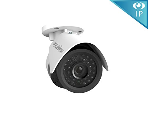 LaView LV-PB932F4 1080P IP 2MP High Resolution, Day and Night, Indoor/Outdoor, White Bullet 4MP Security Combatable System Camera, 18P Add-On Cameras