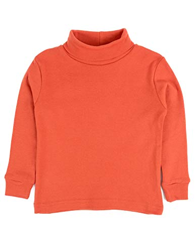 (Leveret Solid Turtleneck 100% Cotton (8 Years,)