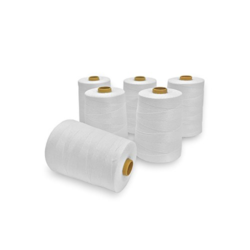 Heavy Duty Spool Sewing Thread for bags stitcher closer 3600 ft (6 Rolls) by HAL Consumables