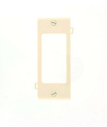 Sectional Nylon Wall Plate (Leviton PSC26-T 1-Gang Decora/GFCI Device Wallplate, Sectional, Thermoplastic Nylon, Device Mount Center Panel, Light Almond)