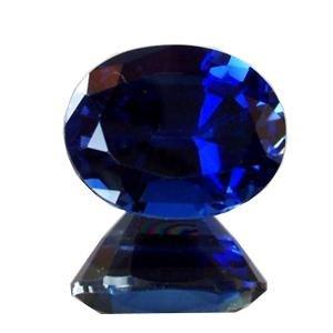 (Getgemstones Lab Created Blue Sapphire Gemstone Certified Loose Precious Stone 9.3)