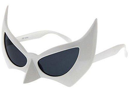 Batman Bat Man Sunglasses Costume Glasses (White,