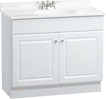 rsi home products c14136a richmond bathroom vanity cabinet with top fully assembled 2 door
