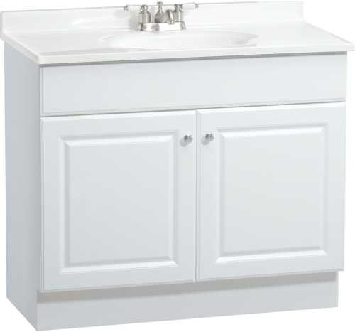 Rsi Home Products C14136A Richmond Bathroom Vanity Cabinet with Top, Fully Assembled, 2 Door, White, 36 x 31 x18 In. - 270124 - Vanity Top Combo