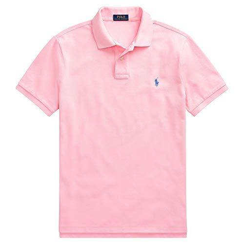 - Polo Ralph Lauren Polo Shirt Men's Big and Tall Pique Cotton Polo Shirt (LT, Pink)