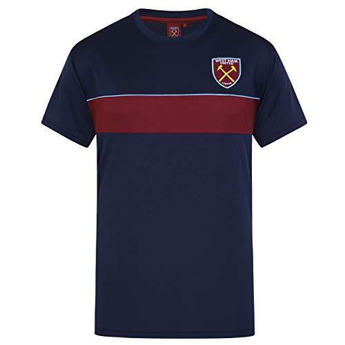 West Ham United FC – Camiseta Oficial de Entrenamiento – para Hombre – Poliéster