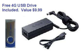 Bundle:3 items - 4G PC Depot USB Drive/Adapter/Power Cord...