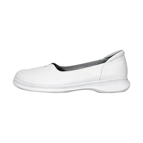 24 Hour Comfort  Kallie (1024) Women Wide Width Comfort Slip-On Shoes White 10.5 by 24 Hour Comfort (Image #1)