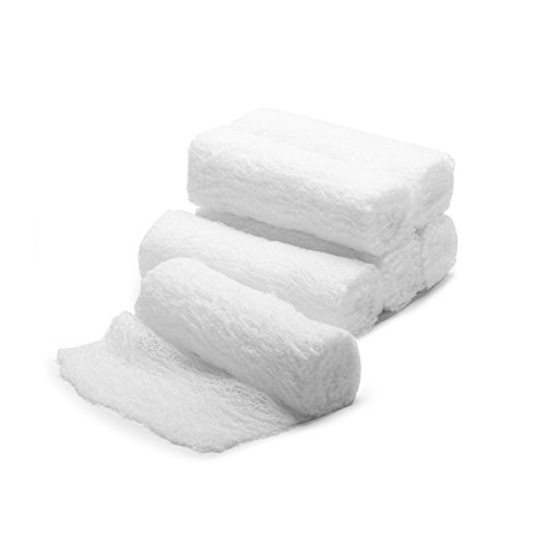 MediChoice Gauze Roll Bandage, 3-Ply, Non-Sterile, 6 inch x 4 Yards, White, 1314GZBN2004 (Case of 48)