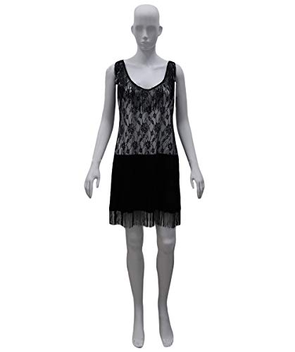 Halloween Party Online 20's Jazz Flapper Costume, Grey Adult (L) HC-431