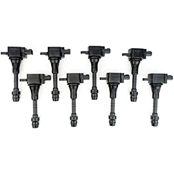 ENA Set of 8 Spark Plugs and 8 Ignition Coils for 2011-2013 Infiniti QX56 and 2014-2017 Infiniti QX80 5.6L