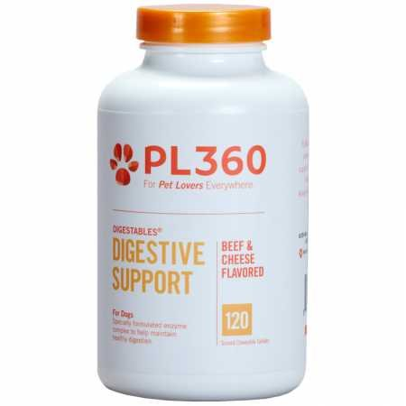PL360 Digestive Support Chewable Supplements for Dogs,  Beef & Cheese Flavor, 120 Count ()