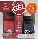 Sally Hansen Miracle Gel, Nail Polish TAWNY TRAVELS + GEL TOP COAT (DUO)