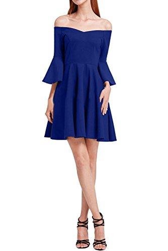 Chiffon Abendkleid Festkleid Partykleid A U Ausschnitt Royalblau Modern Damen Promkleid Linie Ivydressing wRFqpp