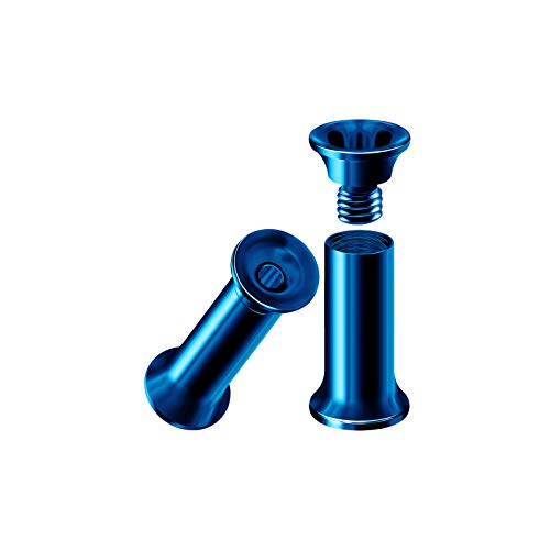 BIG GAUGES Pair of Steel Dark Blue PVD Anodized 8g Gauge 3mm Internally Threaded Flesh Tunnels Piercing Ear Stretcher Plugs Lobe BG3805