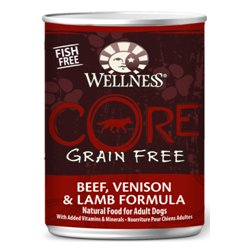 Wellness CORE Grain Free Beef, Venison and Lamb Formula Pet Food Can, 12.5-Ounce, My Pet Supplies