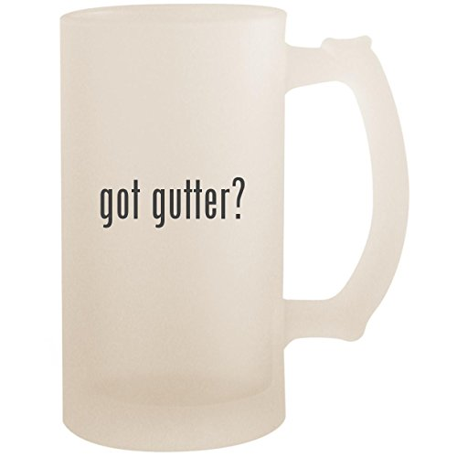 got gutter? - 16oz Glass Frosted Beer Stein Mug, Frosted