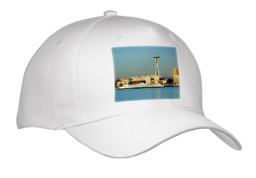 Danita Delimont - Seattle - WA, Seattle, Space Needle and Ferry boat - US48 JWI1087 - Jamie & Judy Wild - Caps - Youth Baseball Cap