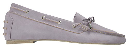Womens Moccasin Shoes Loafers AnnaKastle Purple Driving Vegan Leather Pale Colored dxROwqYf