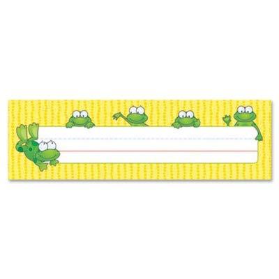 (Carson-Dellosa Frogs Design Desk Name Plate - amp;quot;Customizable - 9.5amp;quot; x 2.87amp;quot; - Assorted)