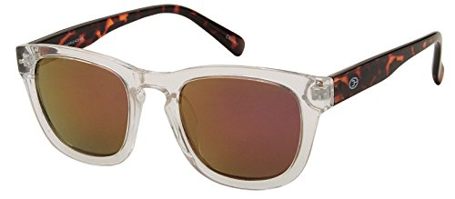 Unisex Classic Wayfarer Sunglasses Gaga Style With Clear Frame and (Cole Filtration)