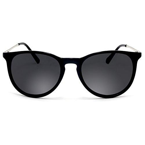 de hombres sol Vintage Negro y Gafas Polarized BLEVET mujeres para UV400 BE001 qxa0HBBt