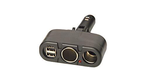 Universal Dc Splitter (Chargetastic Universal Car Charger | 4 in 1 Multi Station DC Rotating Car Charger | Universal Car Charger for All Devices Apple Android Phones Tablets Car Charger Cigarette Lighter Splitter Adapter)