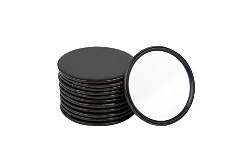 Compact Mirror Bulk Round Makeup Glass Mirror for Purse Great Gift 2.5 Inch Pack of 12 (Black)